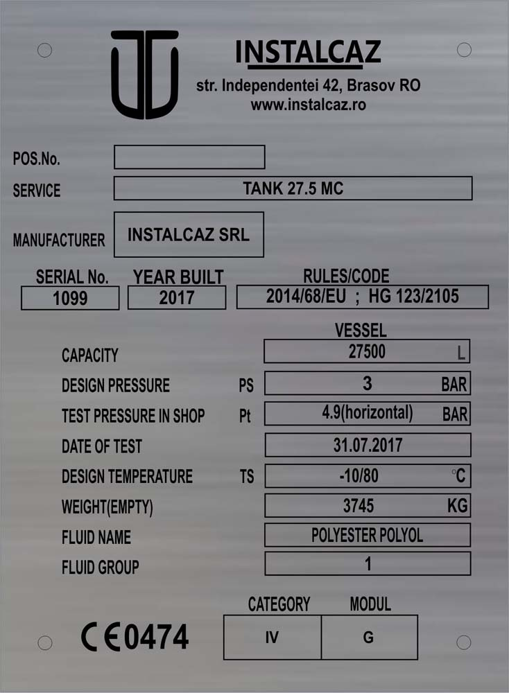 gravura inox (instalgaz)